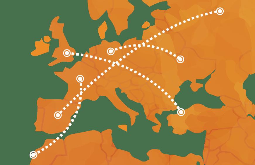 mapa de rutas que ofrece ByExpress